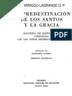 102838708 La Predestinacion de Los Santos y La Gracia Garrigou Lagrange