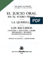 El Juicio Oral en El Fuero Penal - David Elbio Dayenoff
