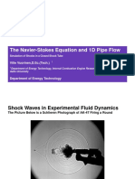 The Navier-Stokes Equation and 1D Pipe Flow