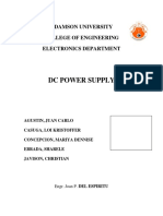 The Regulated Dc Power Supply is Designed to Be Use in Application Such as Powering Operational Amplifier