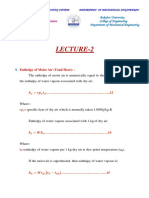 Enthalpy of Moist Air (Total Heat) Dry Bulb Temperature