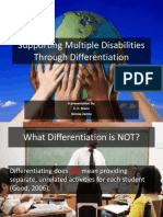 supporting multiple disabilities through differentiation ppt