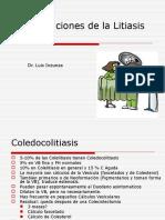 08.14 Complicaciones de La Litiasis Vesicular