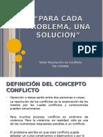 Taller RESOLUCION DE CONFLICTOS 2015.ppt