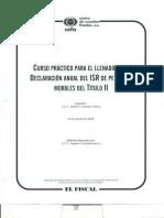 Llenado de La Declaracion Anual Del Isr