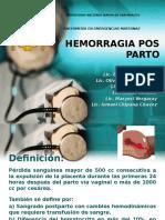 Hemorragia Pos Parto - Emg Materno