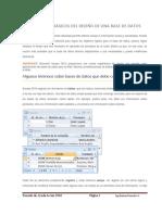 Conceptos Básicos Para El Diseño de Una Base de Datos