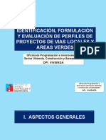Identificación, Formulación y Evaluación de Perfiles