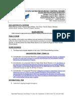 SWRCB 07-1920-16 Agenda Links