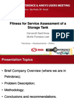 Fitness for Service Assessment of Storage Tank