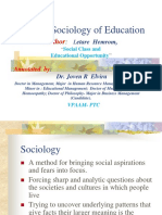 #PTC- The Sociology of Education (1)