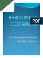 Repaso de Conceptos de Geografía Física