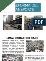 Reforma Del Transporte
