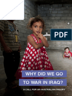 Why Did we Go to War in Iraq?