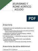 Aneurismas y Sindrome Aortico Agudo