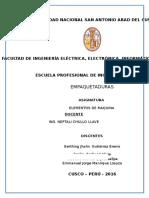 Informe Empaquetaduras