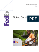 FedEx WebServices PickUpService WSDLGuide v2015