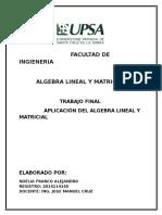 Algebra Lineal y Matricial