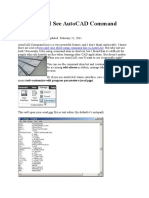 Where Can I See AutoCAD Command Alias List