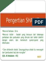 pengertian SHALAT