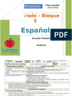 Plan 6to Grado - Bloque 5 Español (2)