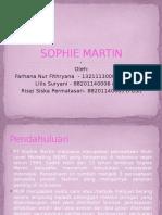 Sophie Martin presentasi pengantar bisnis.