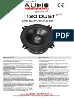 Datenblatt Ex 130 Dust Evo Kpl.
