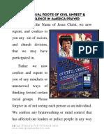 Spiritual Roots Prayer for America