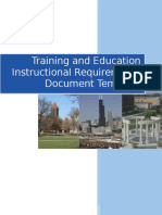 TE Instructional Requirements Document