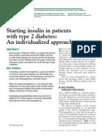 Iniciar Insulina Diabetes Tipo 2