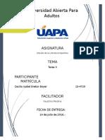 TAREA II - Estudio de La Literatura Española