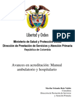 Generalidades Del Manual de Acreditación Ambulatorio y Hospitalario
