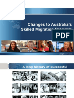 Skilled Migration Program Changes 2012