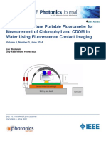 Lensless Miniature Portable Fluorometer for. Measurement of Chlorophyll and CDOM in. Water Using Fluorescence Contact Imaging