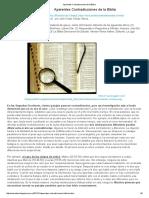 Aparentes Contradicciones de La Biblia