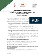 F-07-P-05 v3 Solicitud Para Evaluacion Nivel D