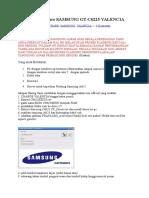 Upgrade Firmware SAMSUNG GT