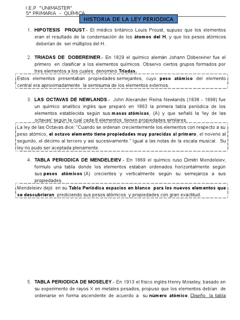ley periodica 5 primaria