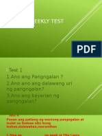 Filipino Weekly Test