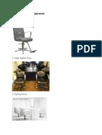 List of Salon Eqiopments