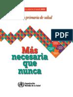 La Atención Primaria de Salud_Informe 2008