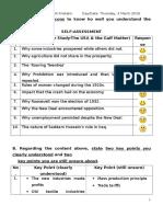10:Self Assessment