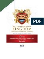 2014 Kingdom Training Seminar Manual
