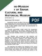 Catbalogan v CES Mini Museum Project