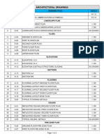 Architectural- Drawing List