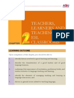 Chapter 2-Teachers Learners and Teaching in ESL Classrooms