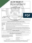 seaberg teaching certificate