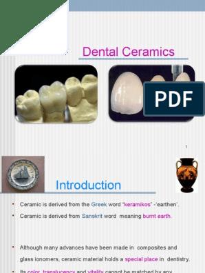 6  DENTAL CERAMICS PPT | Glasses | Metals