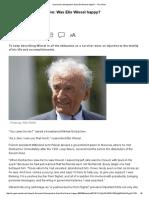 A Personal Retrospective_ Was Elie Wiesel Happy_ -- The JPost
