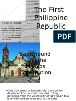 The First Phil. Republic and the Malolos Constitution